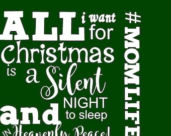 Christmas svg, svg christmas, silent night svgt, svg silent night, mom christmas svg,svg mom christmas,heavenly peace svg,svg heavenly peace
