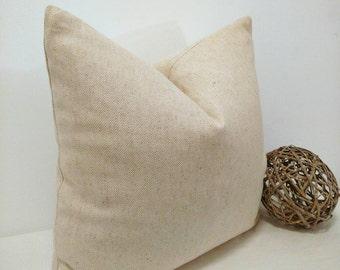 Farmhouse  pillow, cottage beige pillow, rustic pillow, solid beige pillow, 18x18 pillow cover, far,house decor, rustic decor, neutral decor