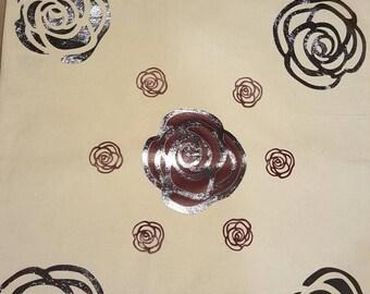 Elegant Rose 12 x 16 Cotton Tote