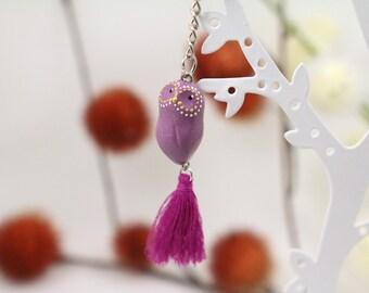Bag purple OWL and her Pompom