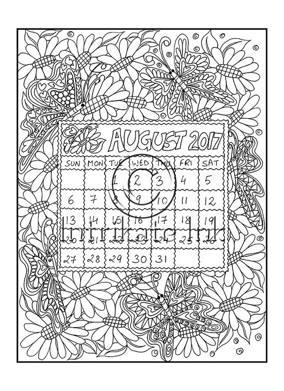 coloring pages for august - photo#36