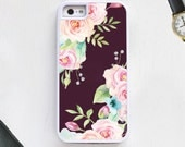 Rose flower garden arrangement on modern on purple Cell Phone Case protective bumper cover iPhone6 iPhone7 Android s5 s6 s7 note4 note72