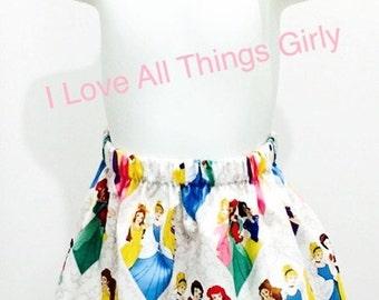 Disney Princesses skirt, Disney trip, birthday, princess party, wired headband, Free Shipping!!