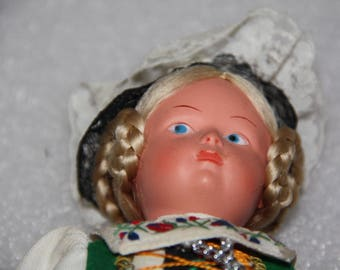 Vintage doll 22 cm vintage doll International doll national costume doll