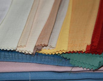 craft item bulk small pieces of fabric 22 pieces of different colours x 30 x 13 cm & 3 of 60 x 60 cm other pieces