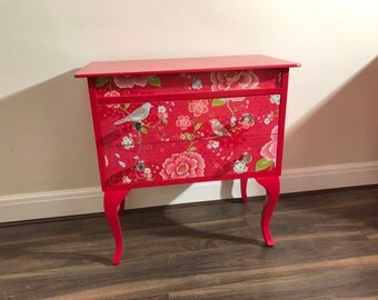 Upcycled spray-painted chest of drawers - UK and European delivery