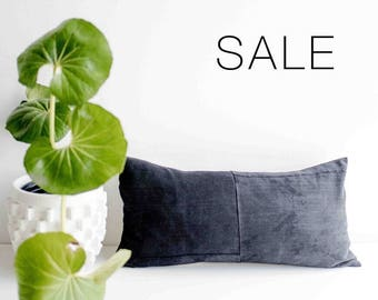 "Sale! Faded Black Pillow Cover | 12"" x 24"""