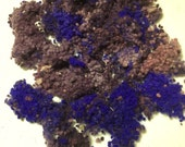 Hand-dyed WOOL NEPPS Australian Merino Fibre variegated colours (purples) - 20 grams