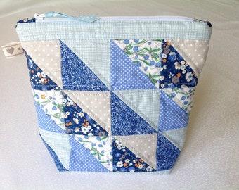 Handmade, patchwork, fabric, make up / toiletry bag