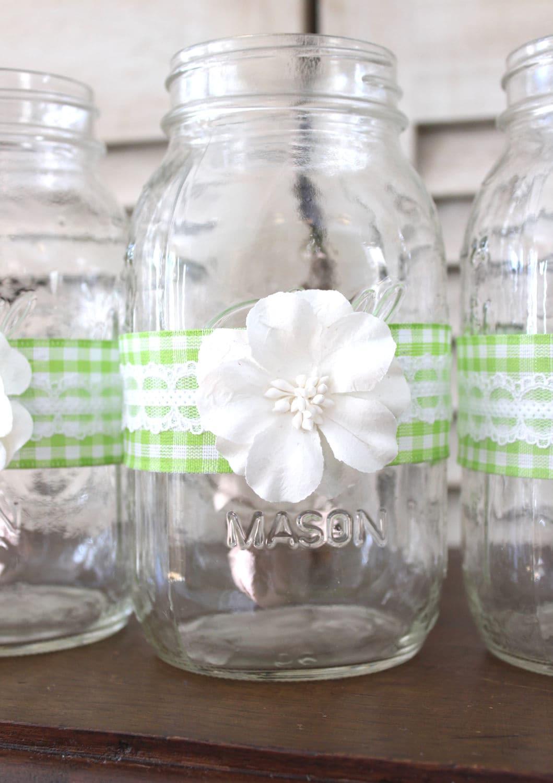 rustic backyard wedding centerpieces green spring wedding mason