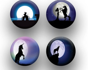 A pack of 4 moonlit silhouette theme Pattern weights Ideal for weighing down patterns on delicate fabrics no need for pins TV sewing Bee