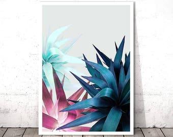 Tropical Leaf Printable, Botanical Wall Print, Tropical Wall Art Print, Digital Print Download, Botanical Leaf Art, Tropical Plant Print