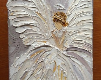 Angel, Oil Painting,  Impasto