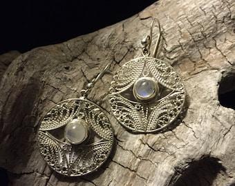 Silver Filigree Earrings Celtic style