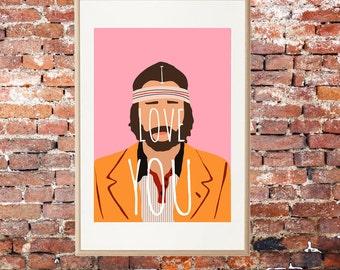 Richie Tenenbaum • Wes Anderson Print • Luke Wilson Print • Cool Art • Digital Art Print • Gift Print • Cool Art Print • Movie Quote • Movie