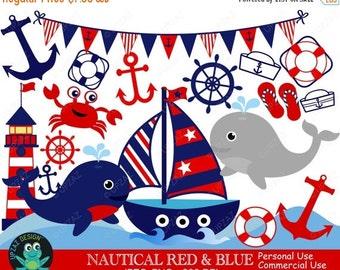 75% OFF SALE Nautical Clipart, Commercial Use, Digital Clipart, Nautical Theme, Sailor Theme, Digital Images - UZ585