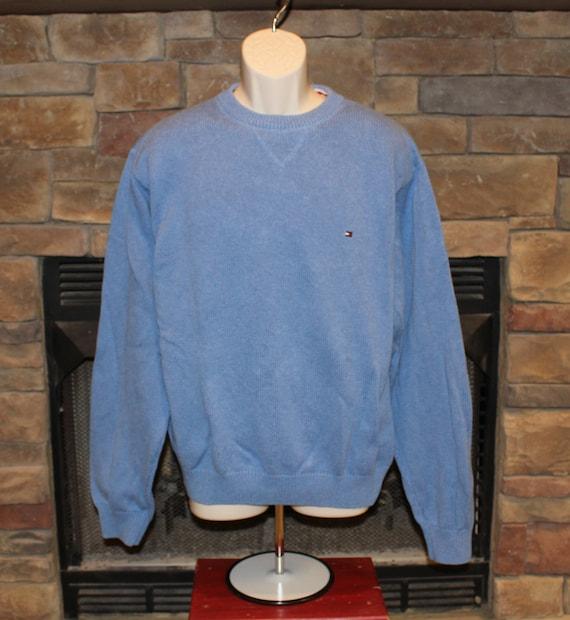 sale vintage tommy hilfiger sweater crewneck pullover block. Black Bedroom Furniture Sets. Home Design Ideas