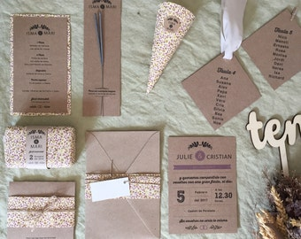 Lavanda Collection - Full Stationery for your wedding ( 50 guest)