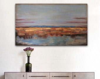 Large Abstract Art, Abstract Wall Art, Large Canvas Art,Large Abstract Landscape Painting, Original Painting, Large Landscape Painting