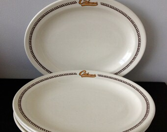 Oneida Restaurant ware Oval Platter - Cattleman's Retaurant - 4 Available!!