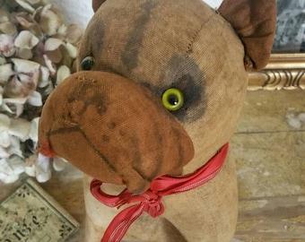 Ancient dog stuffed animal, 19th century