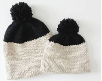 Knitting Pattern - Double Brimmed Hat, Adult and Child 2-5 years // World Traveler