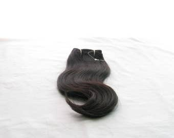"Wavy Indian, 100% natural hair extensions, black color, height 25.4 cm (10 "") / 45,72 cm (18"") / 50,88cm (20 ""), 100gr"