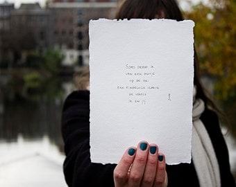 cabin   poem on cotton paper