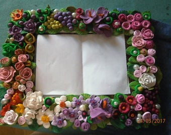 Polymer clay, FRAME or mirror of your choice