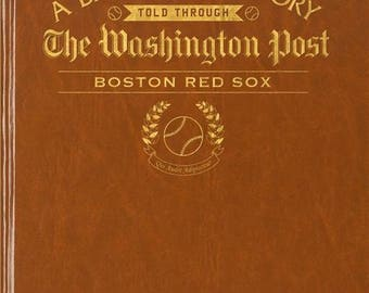 Washington Post Boston Red Sox Baseball Book - Leatherette - Without embossing on front cover