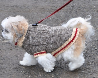 Knitting Pattern For Staffie Dog Coat : Knitting Pattern Dog Sweater Pattern Knit Dog Sweater