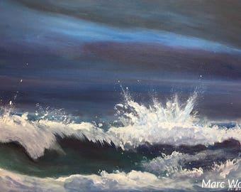 Meeresbrandung, Acrylmalerei  auf Leinwand