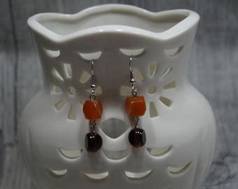 "Earrings ""Agate meets glass beads"""