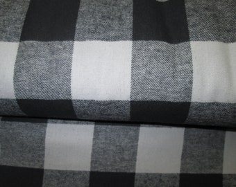flanel fabric bucheron black the grey