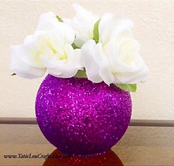 Round glitter vase wedding centerpiece baptism