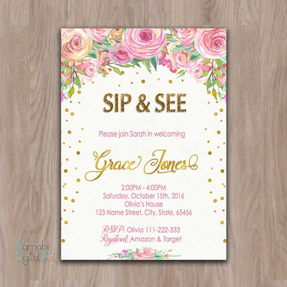 Sip And Shop Invitation is great invitation example