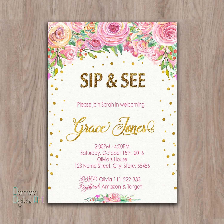 Sip and See invitation girl sip see invitation sip n see