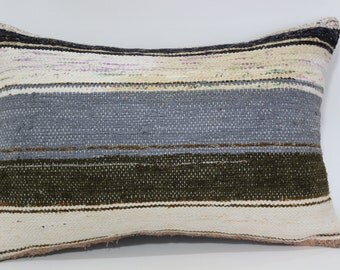 Bohemian Kilim Pillow Sofa Pillow Ethnic Pillow 16x24 Turkish Kilim Pillow Ethnic Pillow Anatolian Kilim Pillow Cushion Cover SP4060-377