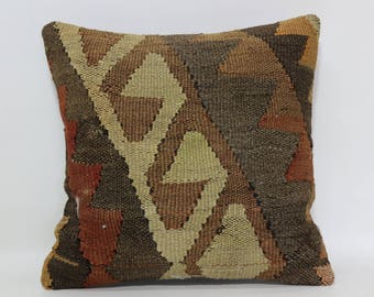 16x16 embroidered pillow handmade pillow 16x16 sofa pillow home decor pillow tribal pillow anatolian pillow SP4040-2285