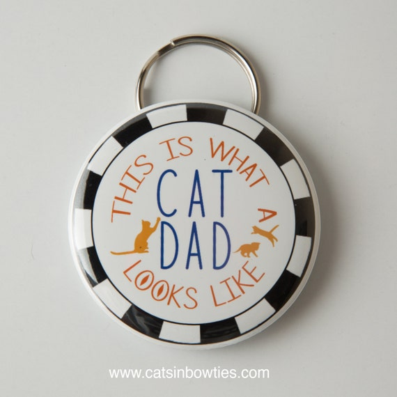 Cat Dad Keychain/bottle opener
