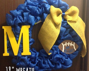 Michigan Wolverines Wreath