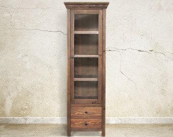 Bookcase, Display Cabinet, Book Shelves, Reclaimed Wood, Handmade, Rustic
