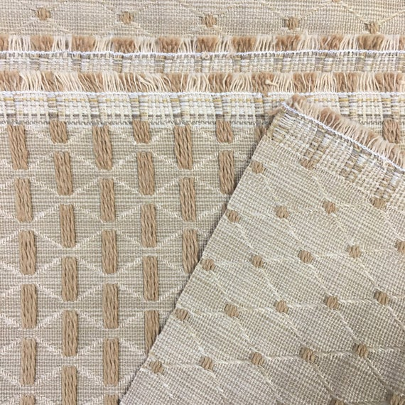 Gold Upholstery Fabric Diamond Weave Cotton Upholstery Bargain Fabric Discount Fabric