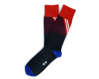 Navy Novelty Socks - Novelty Socks. Mens Dress Socks. Fun Socks. Cool Socks. Gift for Him. Minimal Socks. Trendy Socks. Athletic Socks. Hip