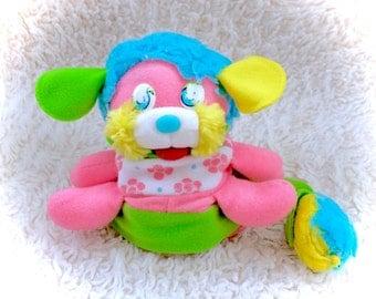 "Popples Vintage Pink Honeysuckle Flower Plush Plushie 1987 Stuffed Animal Mini Green Blue Cute HTF VTG 80s Mattel Small Tiny Daisy Floral 6"""