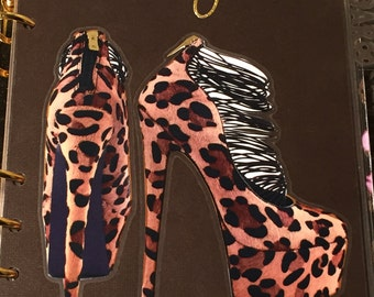 Lovely Leopard High Heel Shoes Dashboard- GM, MM, PM