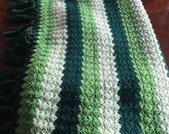 Irish Green Vintage Afghan