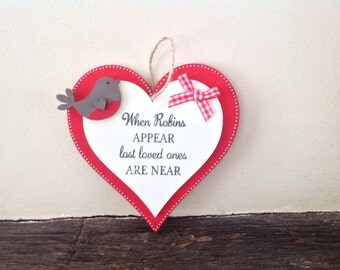 Robin lost loved ones hanging heart