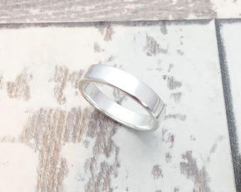 Plain Silver Band, Simple Silver Band, Wedding Ring, Mens Silver Ring, Wedding Band, Simple Modern Wedding Ring, Handmade Wedding Ring,