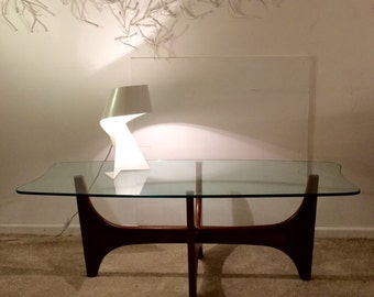 SOLD * Mid Century Teak and Glass Coffee Table * SOLD